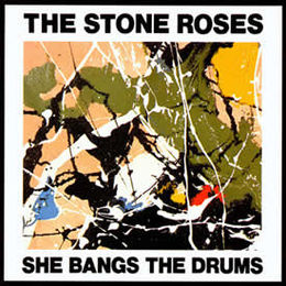 "Singlen ""She Bangs the Drums"" kansikuva"