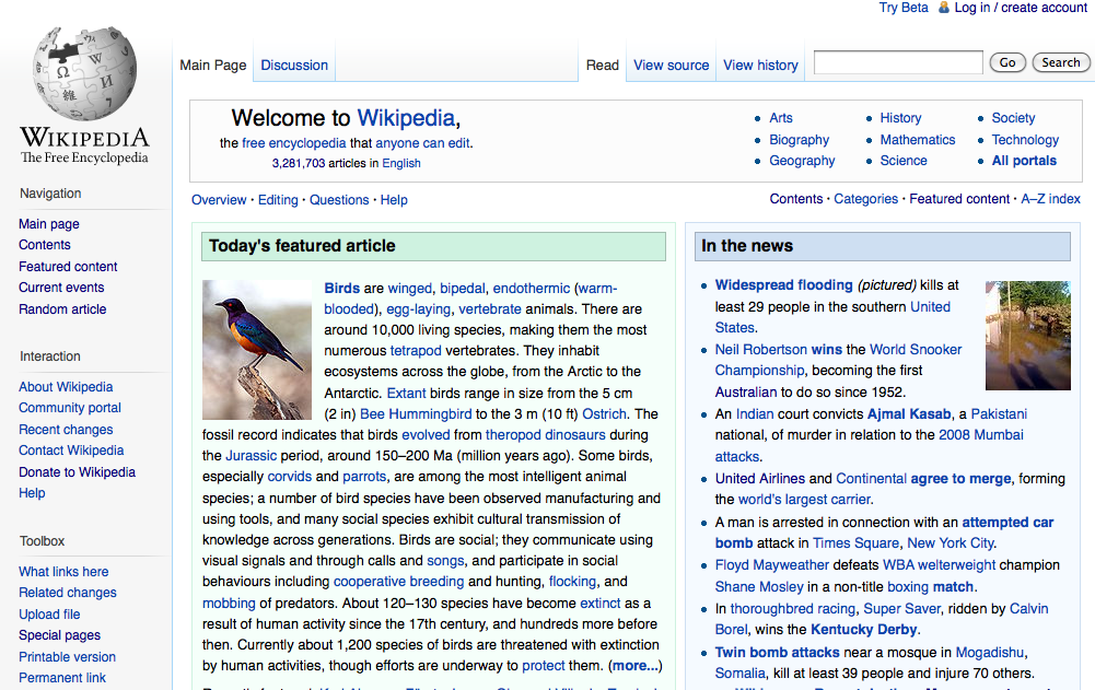 Image result for wikipedia interface