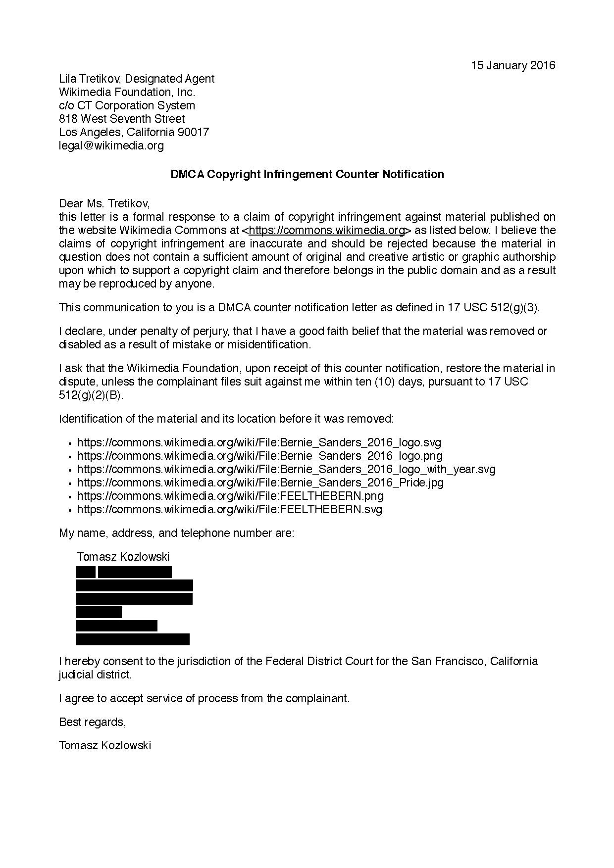 File:Bernie Sanders logos DMCA counter notice Redacted.pdf