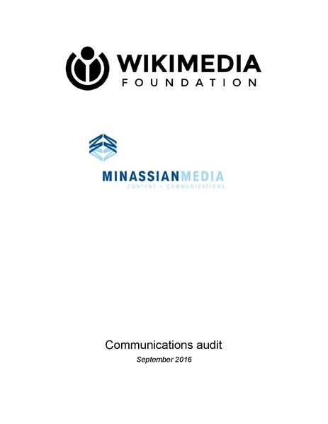 File:Wikimedia Foundation communications audit - 2014-2016.pdf