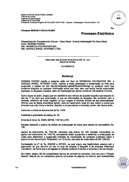 File:Rosana Fiengo v. Wikimedia Foundation lower court dismissal.pdf