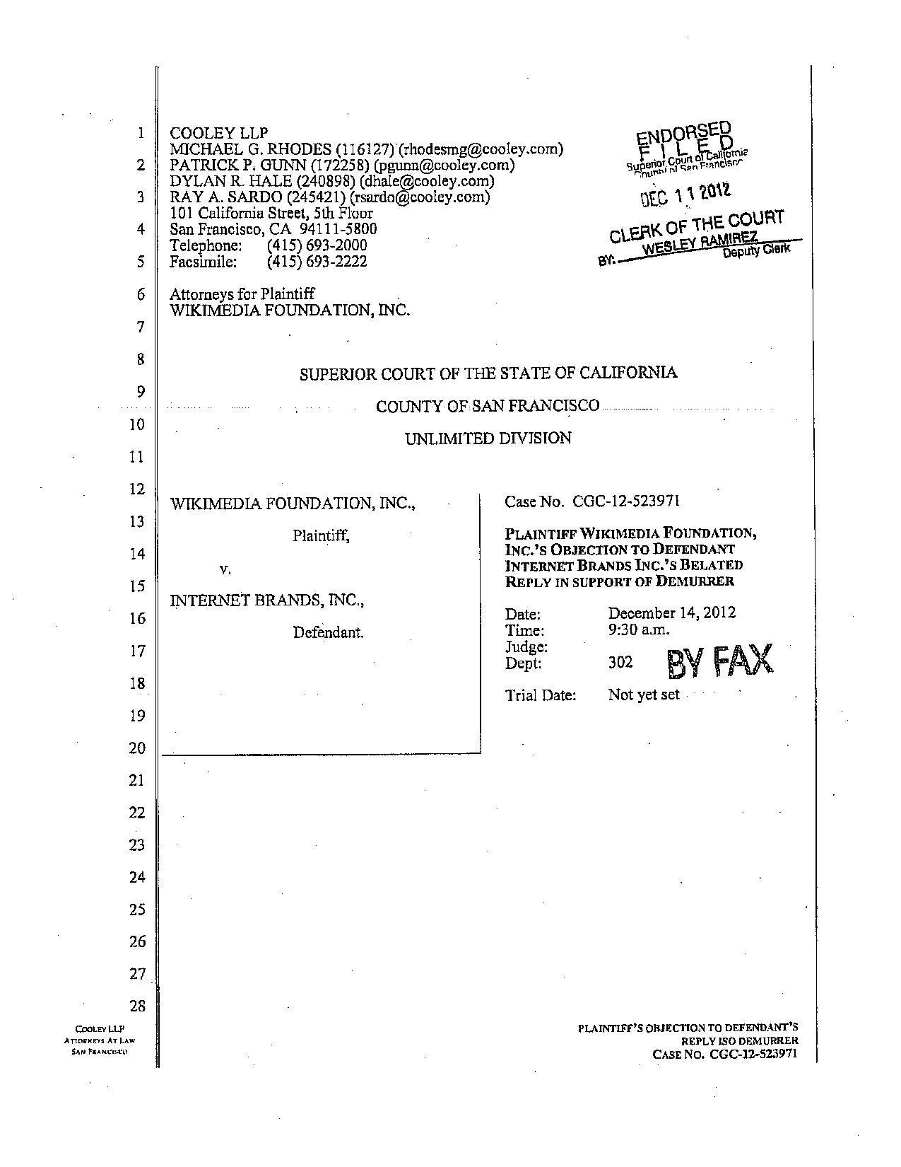 Objection To Defendant S Expert Designation