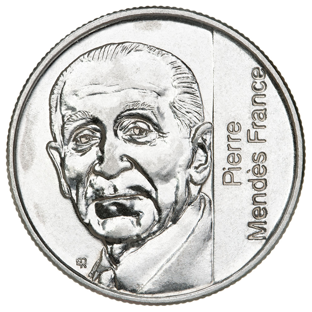 piece de monnaie 5 francs 1992 pierre mendes france