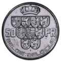Coin BE 50F Leopold III 9shields rev NL-FR 69.png