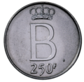 Coin BE 250F Baudouin 25year reign rev 84.png