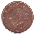 BE 2 euro cent 2009 Albert II.png
