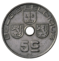 Coin BE 5c Leopold III rev NL-FR 68.png