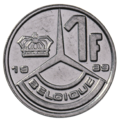 Coin BE 1F Baudouin rev FR 89.png