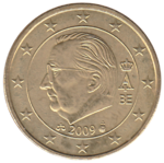 BE 50 euro cent 2009 Albert II.png