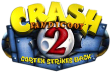 Logo américain de Crash Bandicoot 2: Cortex Strikes Back