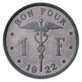 Coin BE 1F wounded Belgium rev FR 55.png