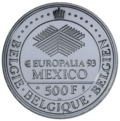 Coin BE 500F Europalia93 rev 92.png