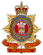 Insigne du The Royal Regiment of Canada