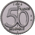 Coin BE 50F Albert II rev FR 93.png