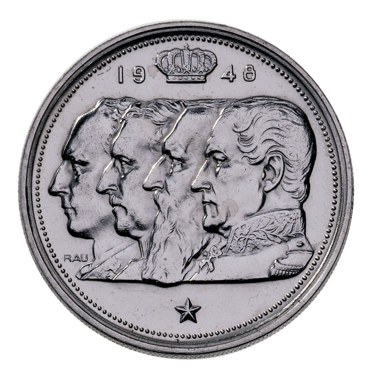 Cent Francs Belges Type 4 Rois