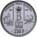 Coin BE 250F King Baudouin Foundation rev.png