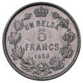 Coin BE 5F Albert I rev FR 58.png