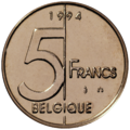 Coin BE 5F Albert II rev FR 95.png