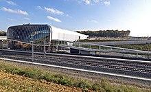 photographie représentant une vue sur la gare TGV de Belfort - Montbéliard