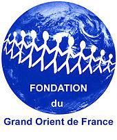 logotipo monocromático de uma fundação