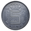 Coin BE 5F Leopold III WWII rev 70.png