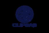 logotipo monocromático da Clipsas