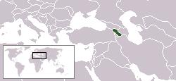 Lokaasje fan Armeenje