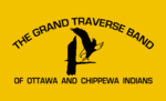 Flagge fan de Grand Traverse Troep fan Ottawa & Tsjippewa Yndianen fan Michigan.PNG