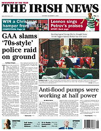 The Irish News, 24 Samhain 2005