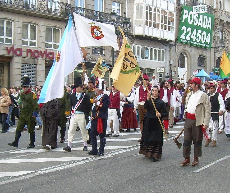 Reconquista de Vigo 2008 - Cara á porta da Gamboa