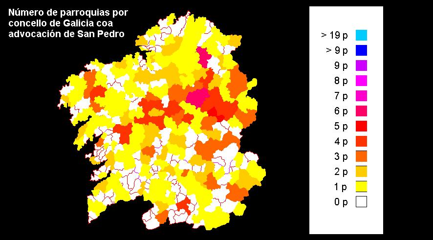 Advocacións de San Pedro en Galicia