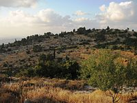 Panorama sheluchat hasaiarot above the road a Jerusalem 1.JPG