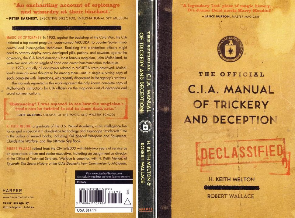 Book cover - The Official CIA Manual of Trickery and Deception