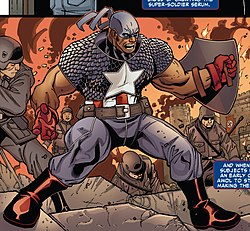 Isaiah Bradley as Captain America.jpg