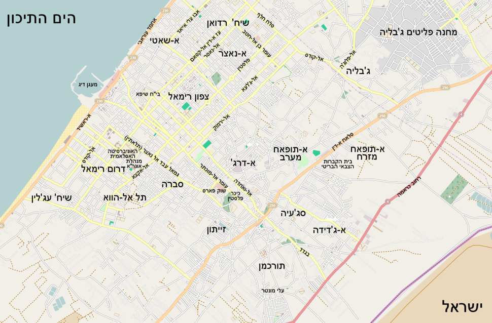 Map of gaza city draft1