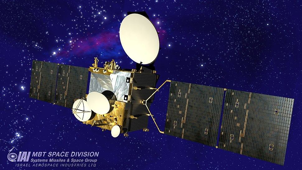 AMOS-3 with Space Background