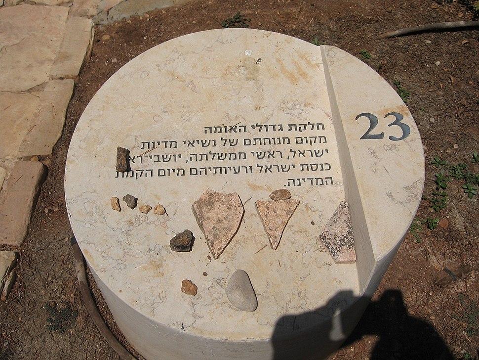 אבן הסבר בחלקת גדולי האומה 035
