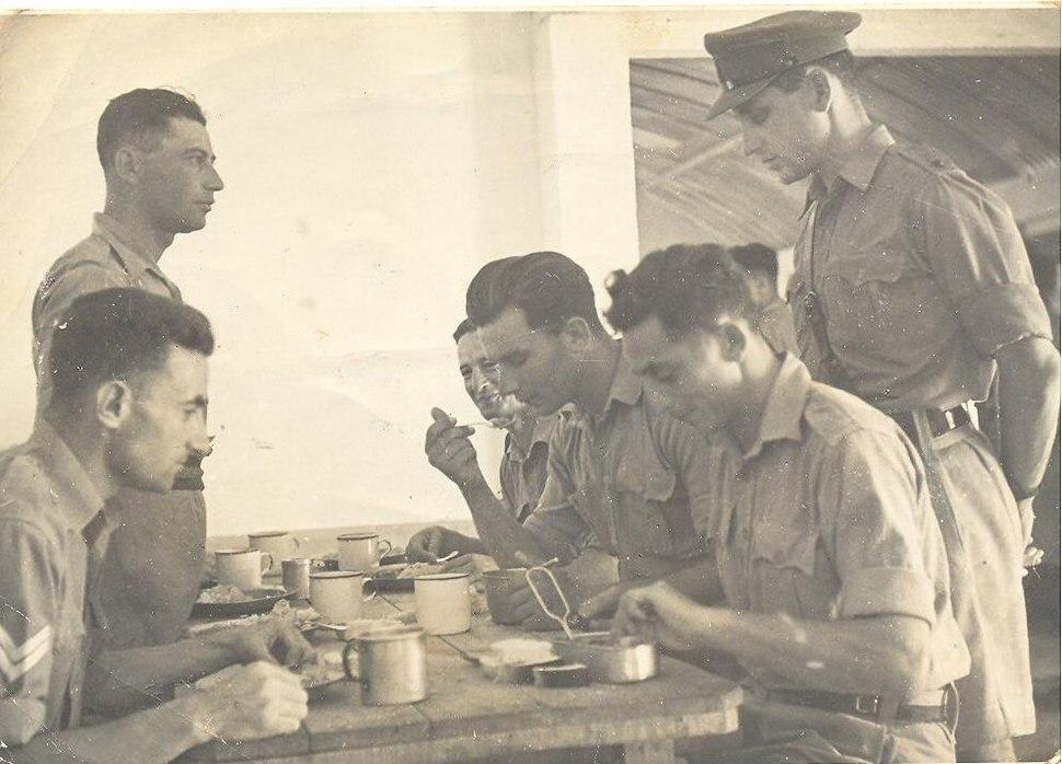 Jews Brigade in dinnig room west desert 1943