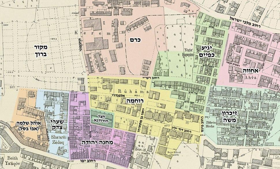 Jerusalem downtown neighborhoods