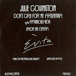 Don't Cry for Me Argentina julie covington uk vinyl single.jpg