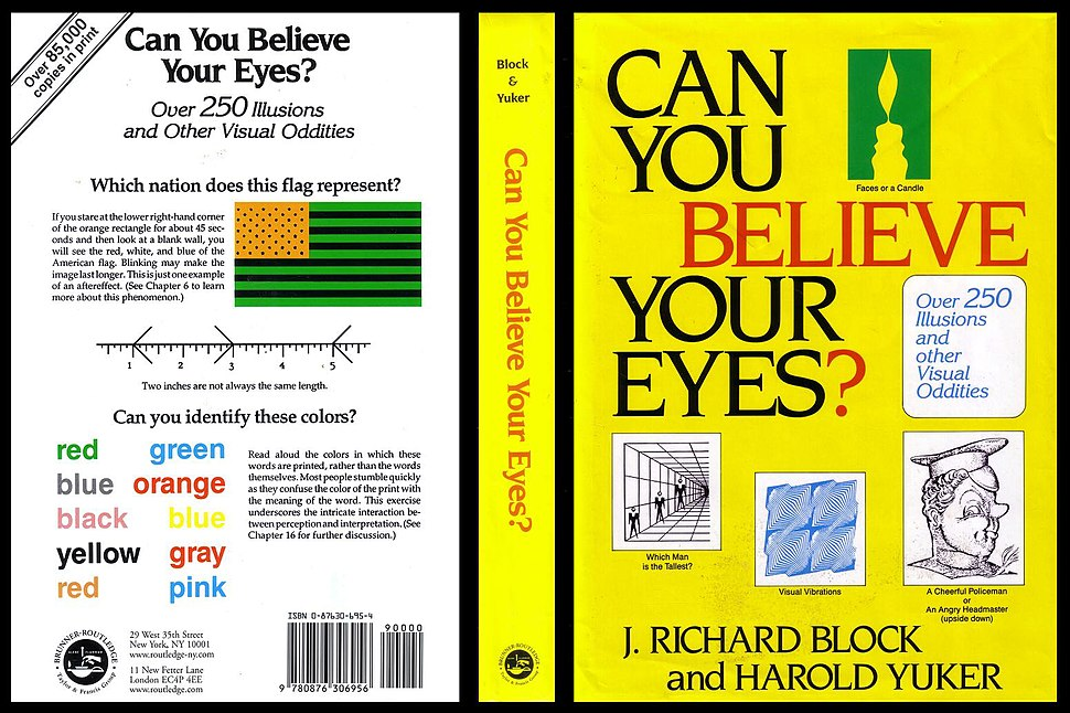 Book cover - Can You Believe Your Eyes