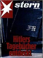 """יומני היטלר על שער המגזין """"Stern"""""""