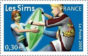 French Stamp Les Sims.jpg