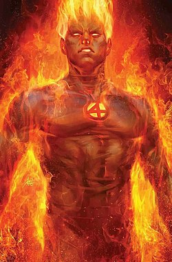 Fantastic Four Vol 6 1 Human Torch Variant Textless.jpg