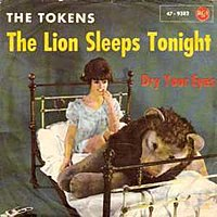 The Lion Sleeps Tonight by The Tokens single cover.jpg