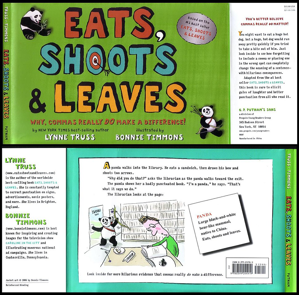 Lynne Truss, Eats Shoots and Leaves, Children Edition book cover