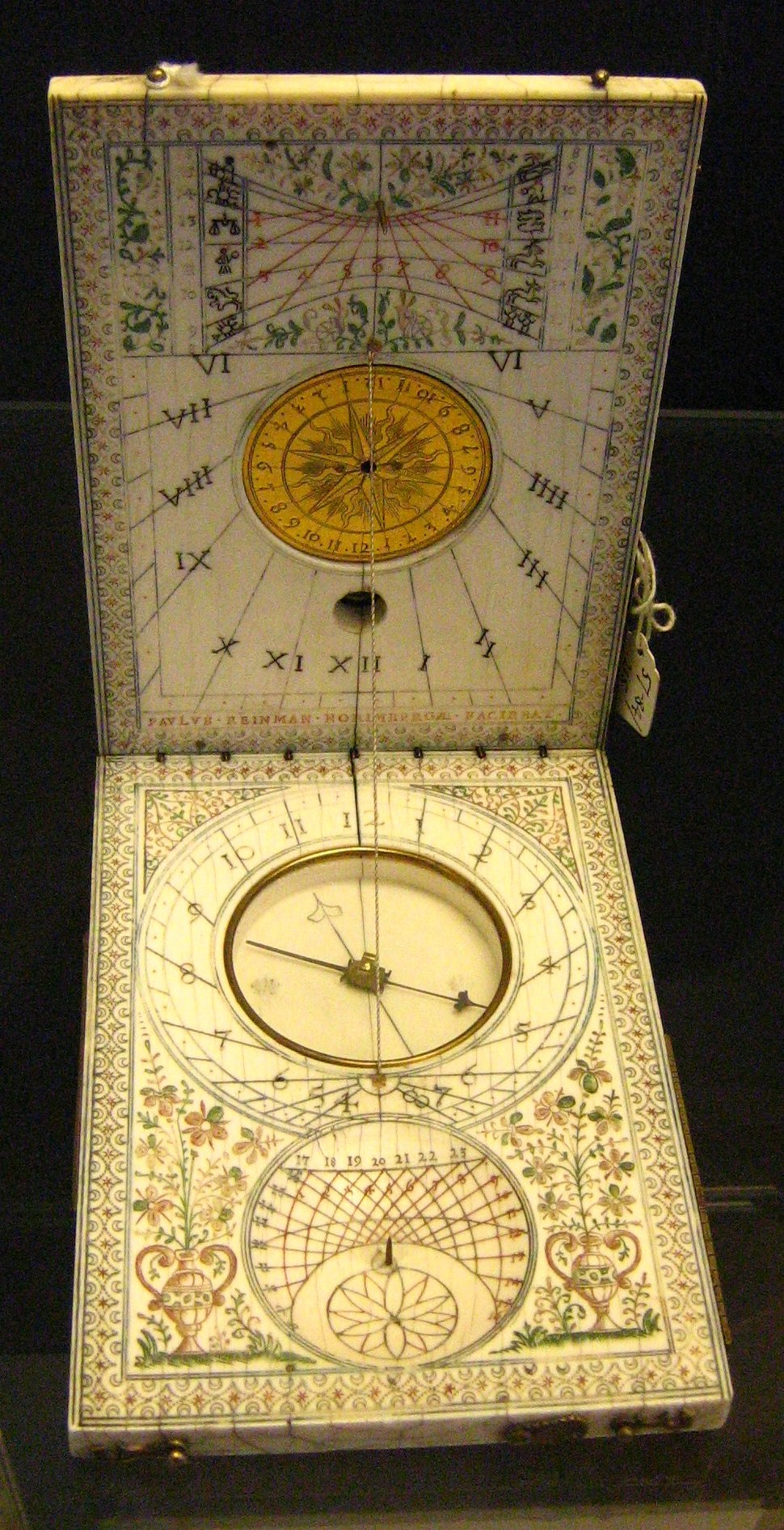 Portable sundial Oxford science museum