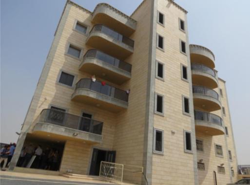 בניין רב קומות בעיר רהט
