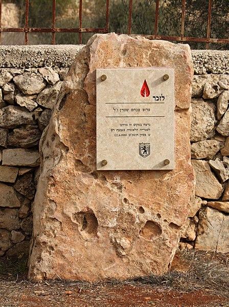 קובץ:Menachem Sterm Memorial.JPG