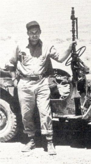 Leon Uris with patrol